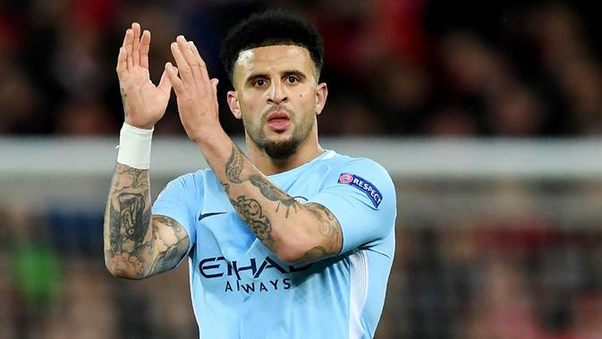 Bek kanan Manchester City, Kyle Walker. (AFP/Paul Ellis)