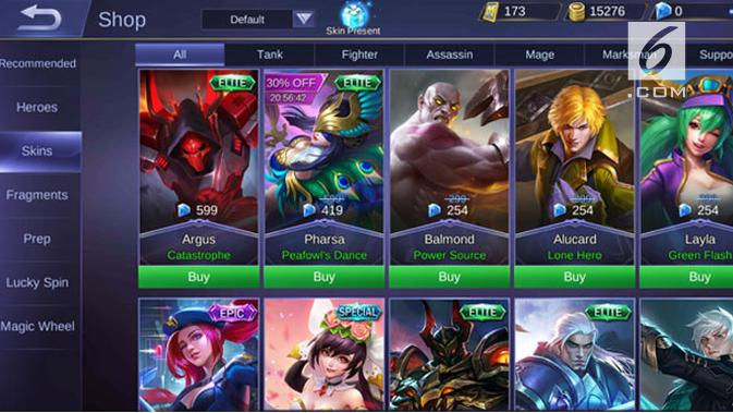 Tampilan Mobile Legends. Googleberita.com/ Yuslianson