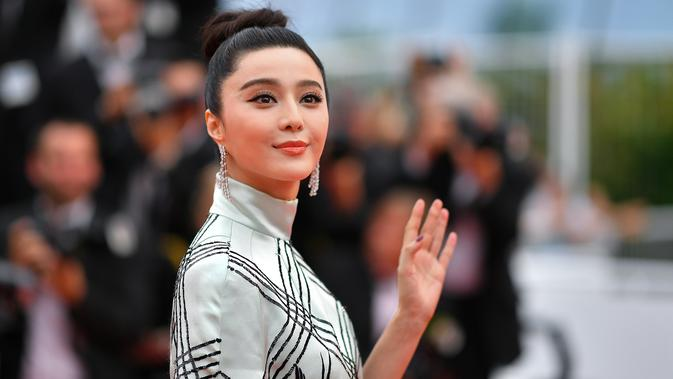 Fan Bingbing. (AFP PHOTO / ANNE-CHRISTINE POUJOULAT)