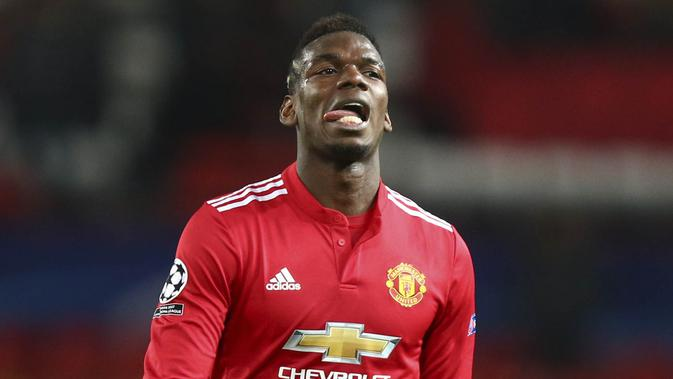 Gelandang Manchester United, Paul Pogba. (AP/Dave Thompson)